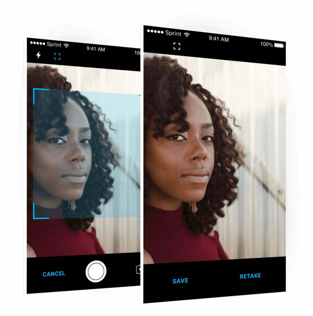 Smart Doorbell user interface with woman on camera screen